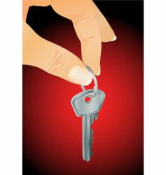 hand with key vector image