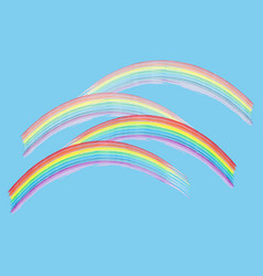 rainbow on sky sign vector image vector image