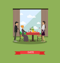 romantic date in flat style vector image