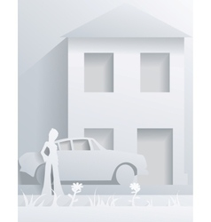 street from paper vector image