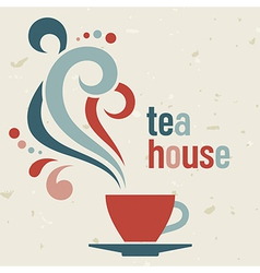 Tea house vector image