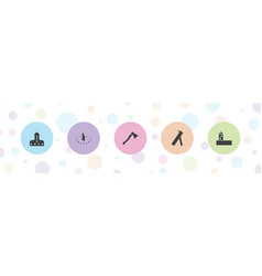 5 ancient icons vector
