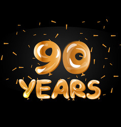 90 years golden anniversary celebration logo vector image