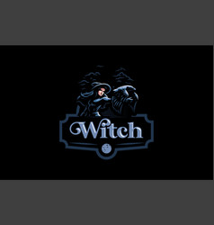 a witch in witchs hat vector image