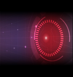 abstract red purple digital technology background vector image