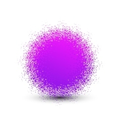 Abstract violet fluffy isolated sphere with shadow vector