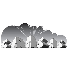 alphabet made stone single word crisis vector image