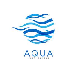 Aqua logo design corporate identity template vector