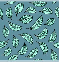 aquamarine leaves pattern vector image