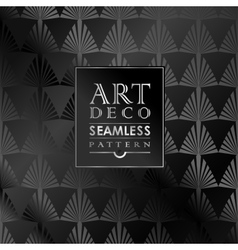 Art Deco seamless vintage wallpaper pattern vector image