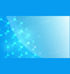 blue background with honeycomb vector image