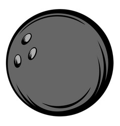 bowling ball icon cartoon vector image