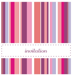 Card or invitation for party or wedding vector image