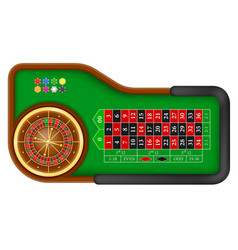 Casino roulette table stock vector