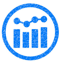 Charts rounded grainy icon vector