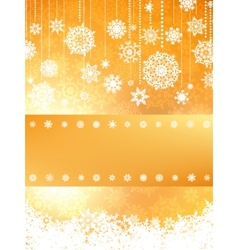Christmas card in orange color EPS 8 vector image