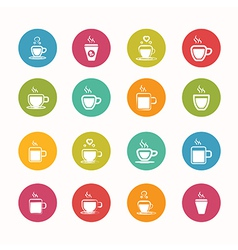 coffee icons set Circle Series - eps10 vector image