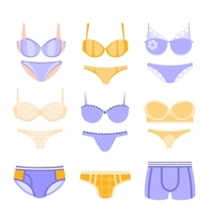 Comfortable Underwear In Pastel Colors Matching vector