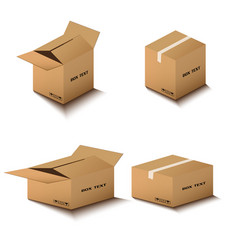 corton box postal packing box on white vector image