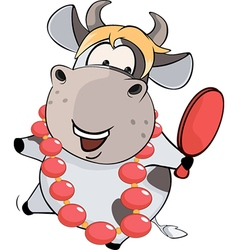 Cow the woman of fashion vector