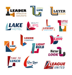 Creative business corporate indentity letter l vector