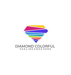 diamond colorful template design vector image