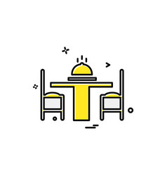 Dinning table icon design vector