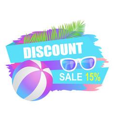 Discount sale summertime offer vector