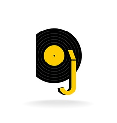 DJ logo concept Music sign vector