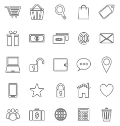Ecommerce line icons on white background vector