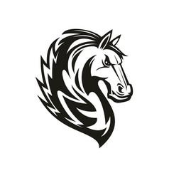 Equestrian sport mascot horse head symbol vector