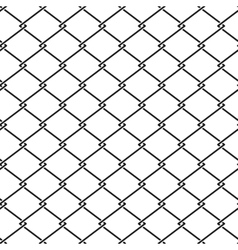 Fence steel netting seamless pattern vector