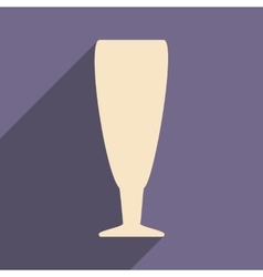 Flat with shadow icon and mobile applacation wine vector
