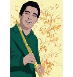 flute man vector image