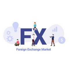 Fx foreign exchange market concept with big word vector