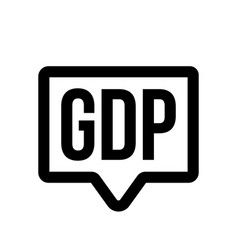gdp investment profit gross domestic product icon vector image