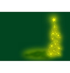 Green Xmas Tree vector image