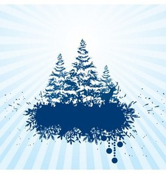 Grunge Christmas banner vector image
