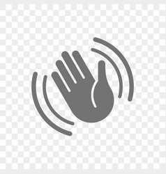 hand waving icon hello or goodbye gesture vector image
