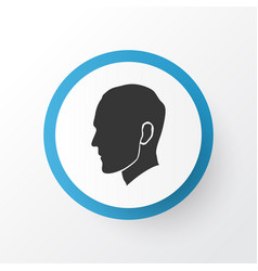 head icon symbol premium quality isolated human vector image