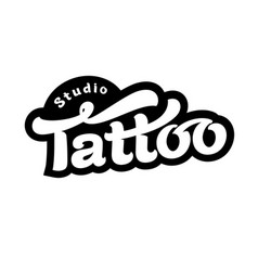 Image of tattoo studio logo vector