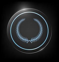 laurel wreath - elegant symbol for yor design vector image