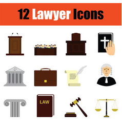 Lawyer icon set vector