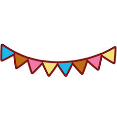 line color party flags decoration to celebration vector image