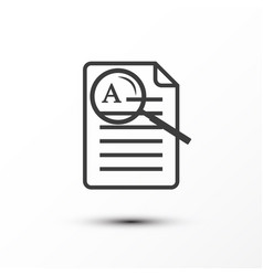 list of paper document icon with magnifying glass vector image
