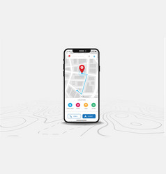 map gps navigation smartphone map application vector image