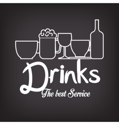 Menu drinks service icon vector