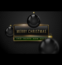 merry chistmas and happy new year luxury banner vector image