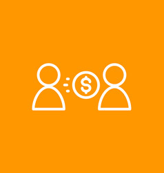 money transfer icon linear vector image