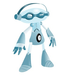 music robot vector image